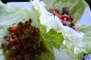 Bison Lettuce Wraps