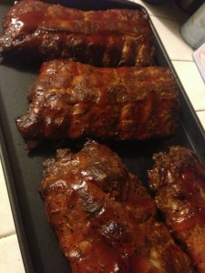 Masterbuilt Electric Smoker Ribs Yum! They're finished!