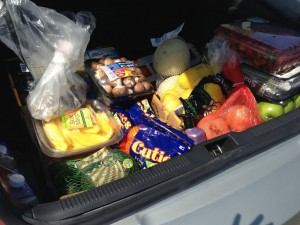 Trunk full of groceries