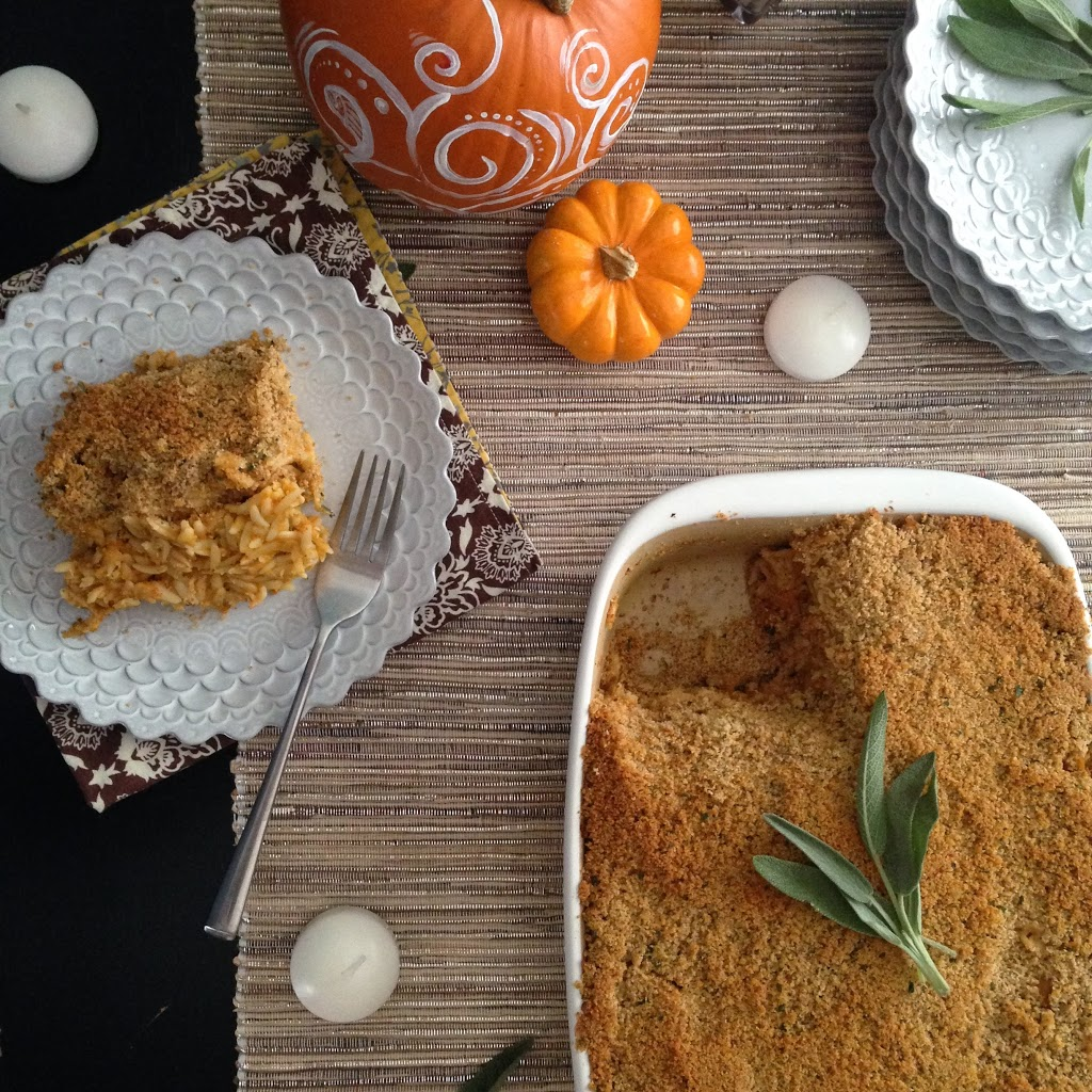 Pumpkin Sage Chicken Casserole