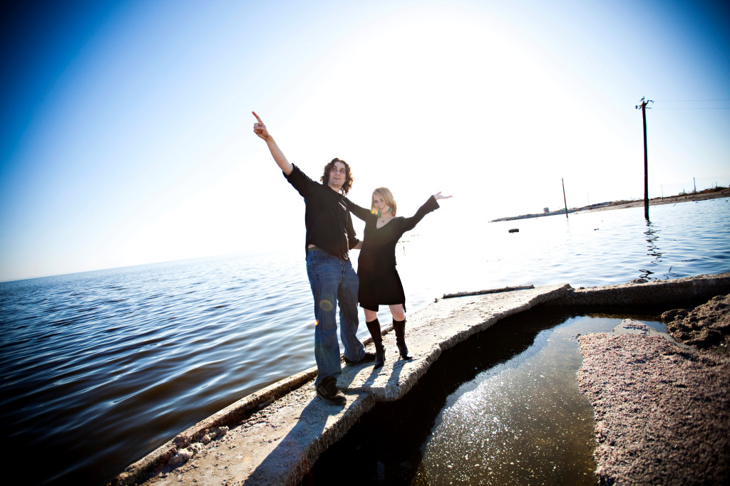 Chris Lucian and Carolann Lucian at the Salton Sea
