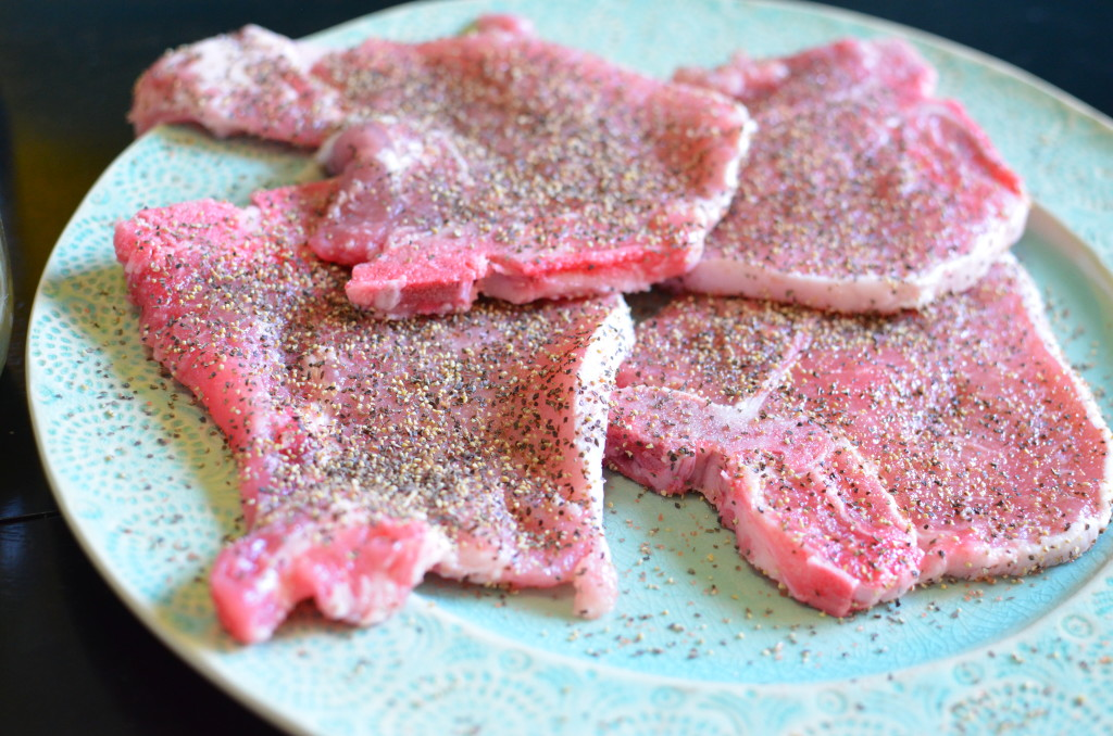 pork chop prep