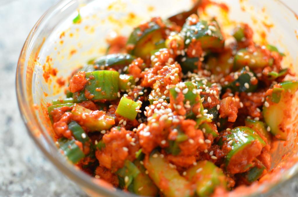 Fresh Cucumber Kimchi