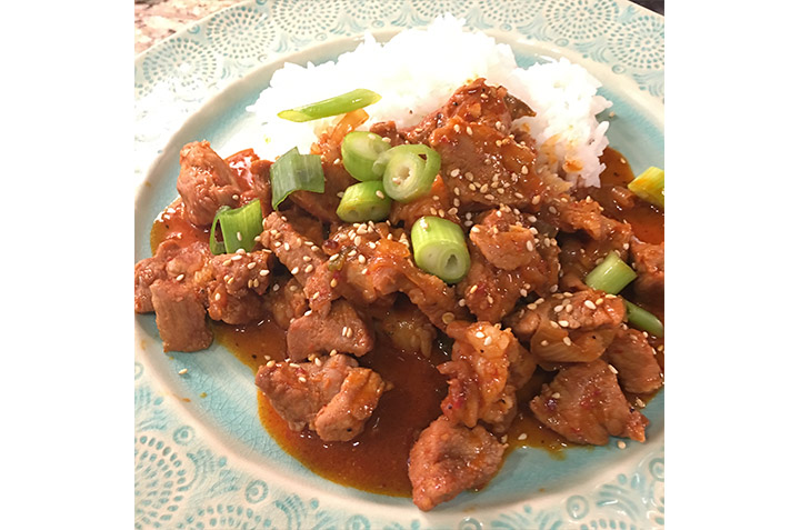Maangchi's Spicy Pork Stir-Fry