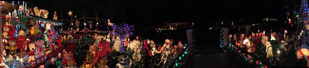 Panorama of Christmas Lights! Lights, lights, everywhere!