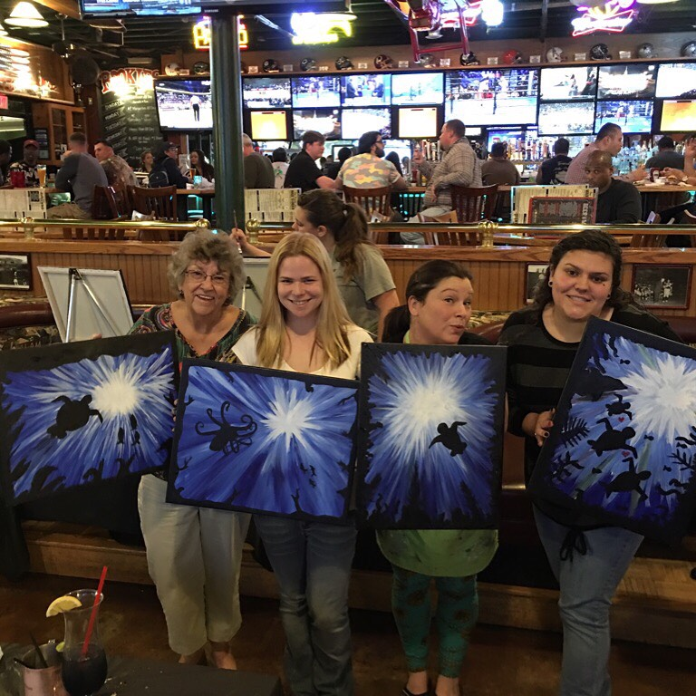 Paint Nite – Wordless Wednesday