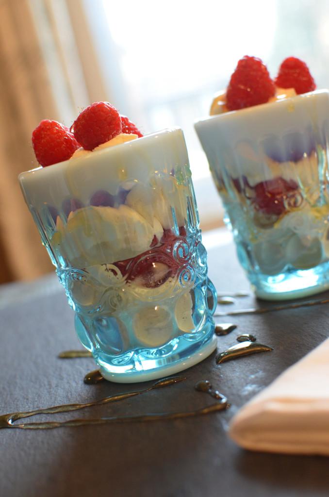Raspberry Marscapone Cream Parfait