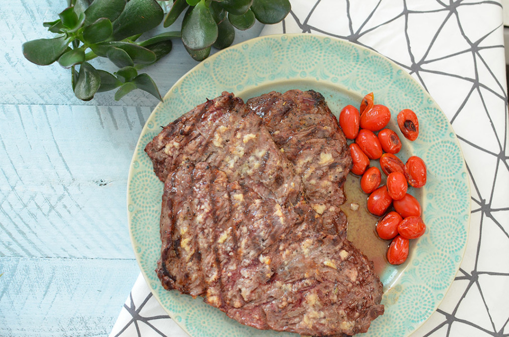 Horseradish Steak with Blistered Tomatoes