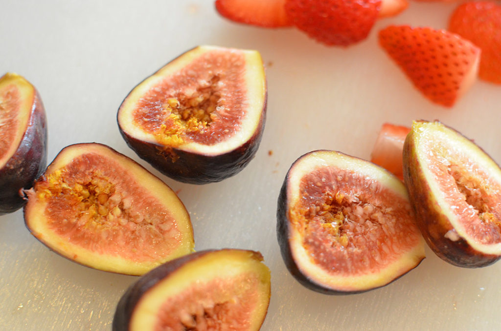 Cut Figs and Strawberries