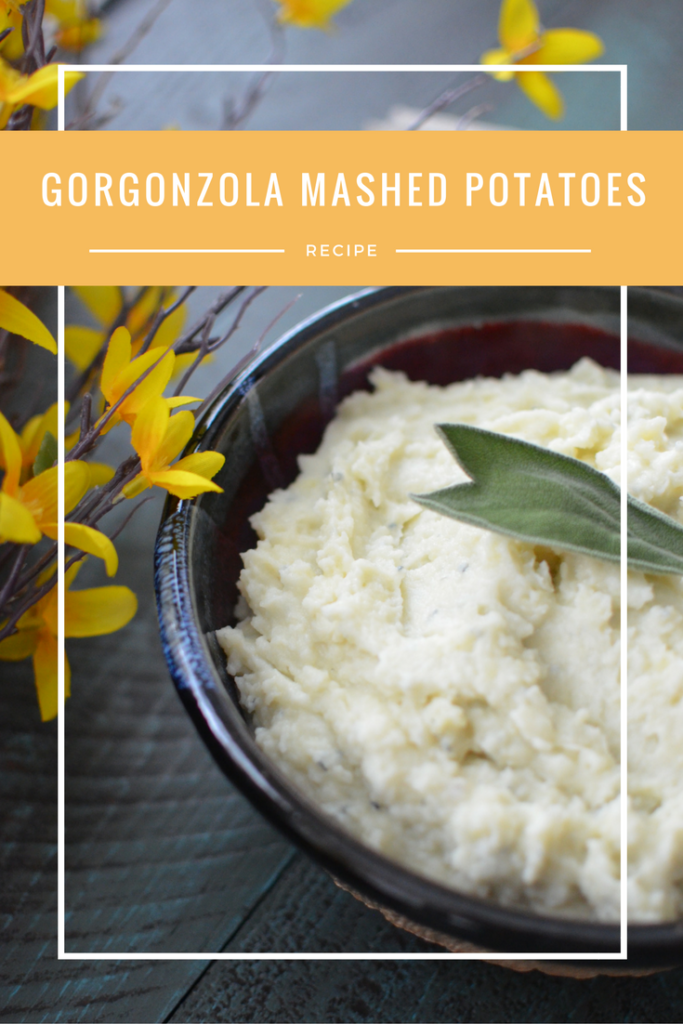 Delicious mashed potatoes flavored with rich gorgonzola cheese
