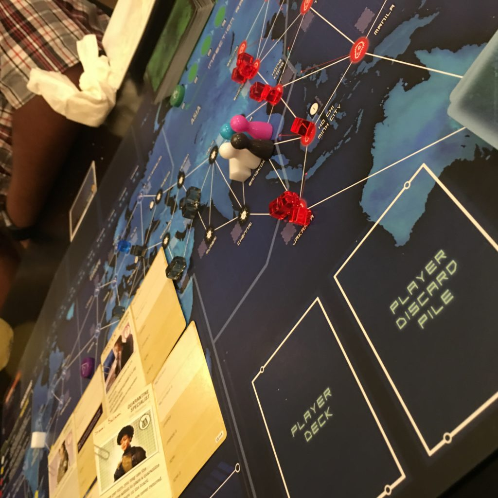Playing Pandemic Legacy Board Game