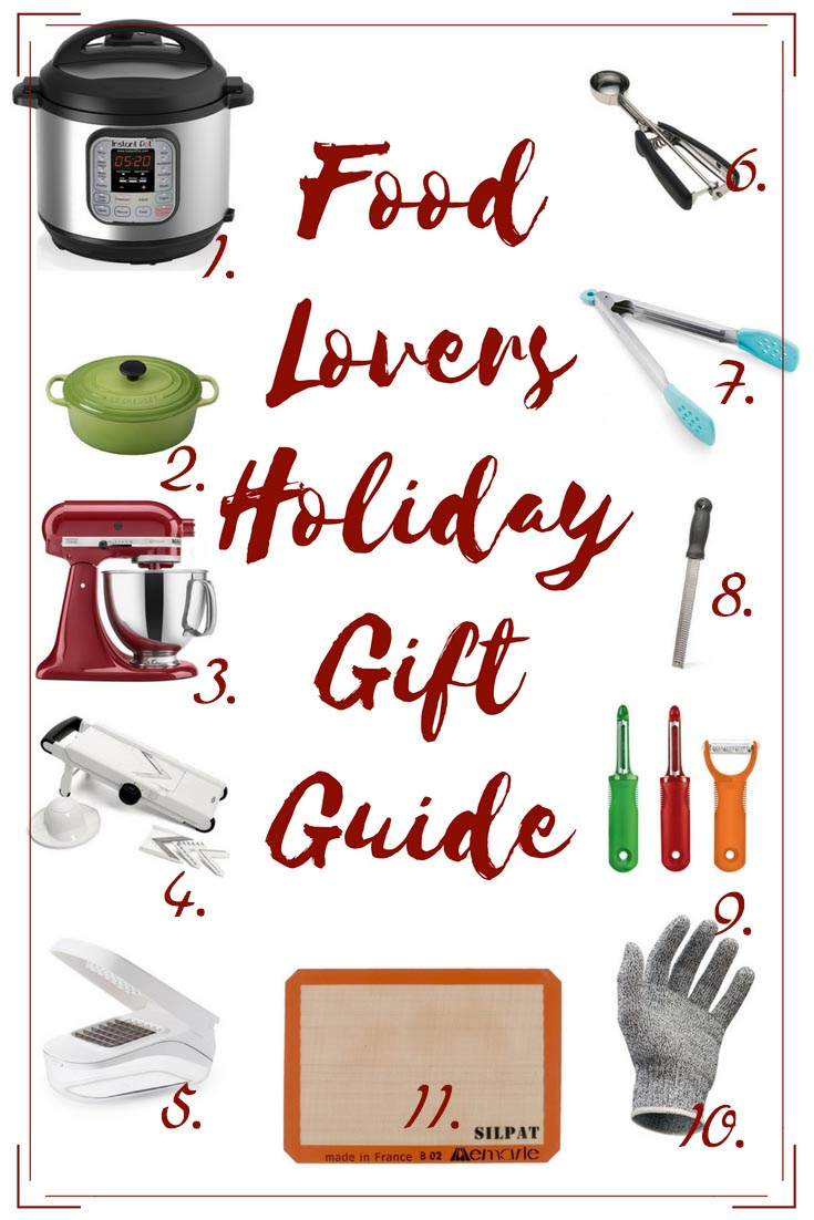 Favorite gifts for anyone who likes to cook! Food Lovers Holiday Gift Guide!