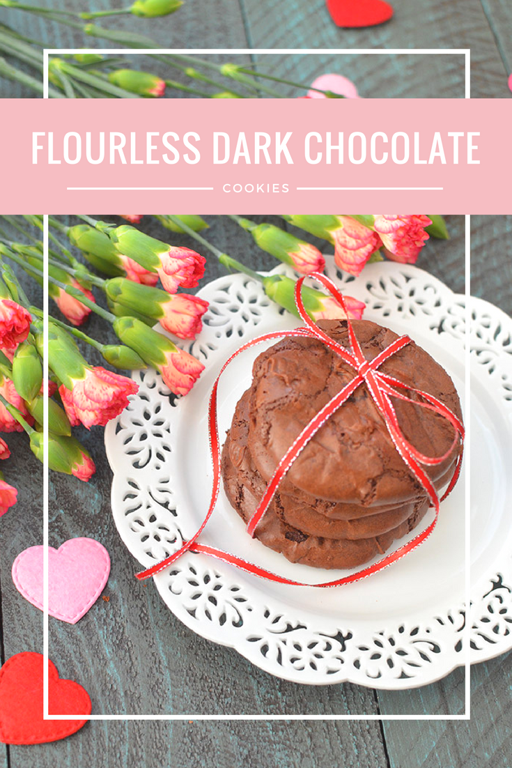 Rich and elegant, these flourless dark chocolate cookies are the perfect dessert for special occasions! Best part is that they're gluten free!