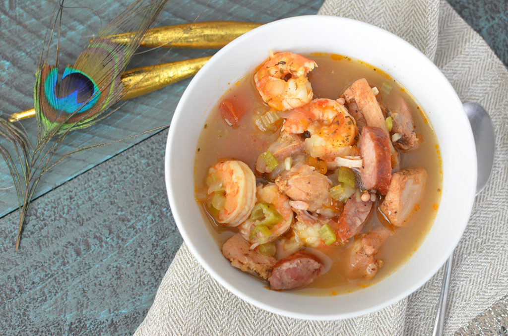 Delicious gumbo that is gluten free and paleo friendly!