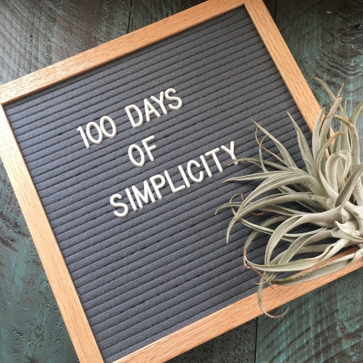 100 days of simplicity--less clutter for more living