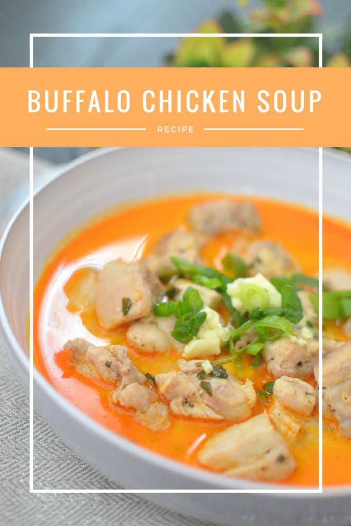 Spicy buffalo chicken soup! Perfect for a rainy day or just about whenever!