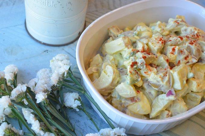 Texas Style Potato Salad- #FoodBloggers4TX
