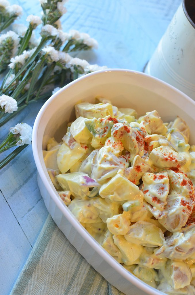 Texas Style Potato Salad- #FoodBloggers4TX