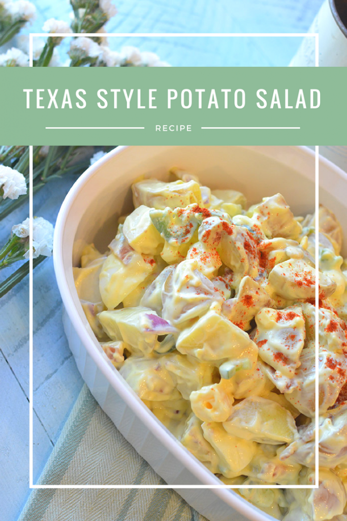 Texas Style Potato Salad- a chunky potato salad with a spicy kick! #FoodBloggers4TX