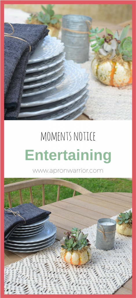 What entertaining tips do you have? Do you enjoy having people over spontaneously? Let me know send me a tweet!