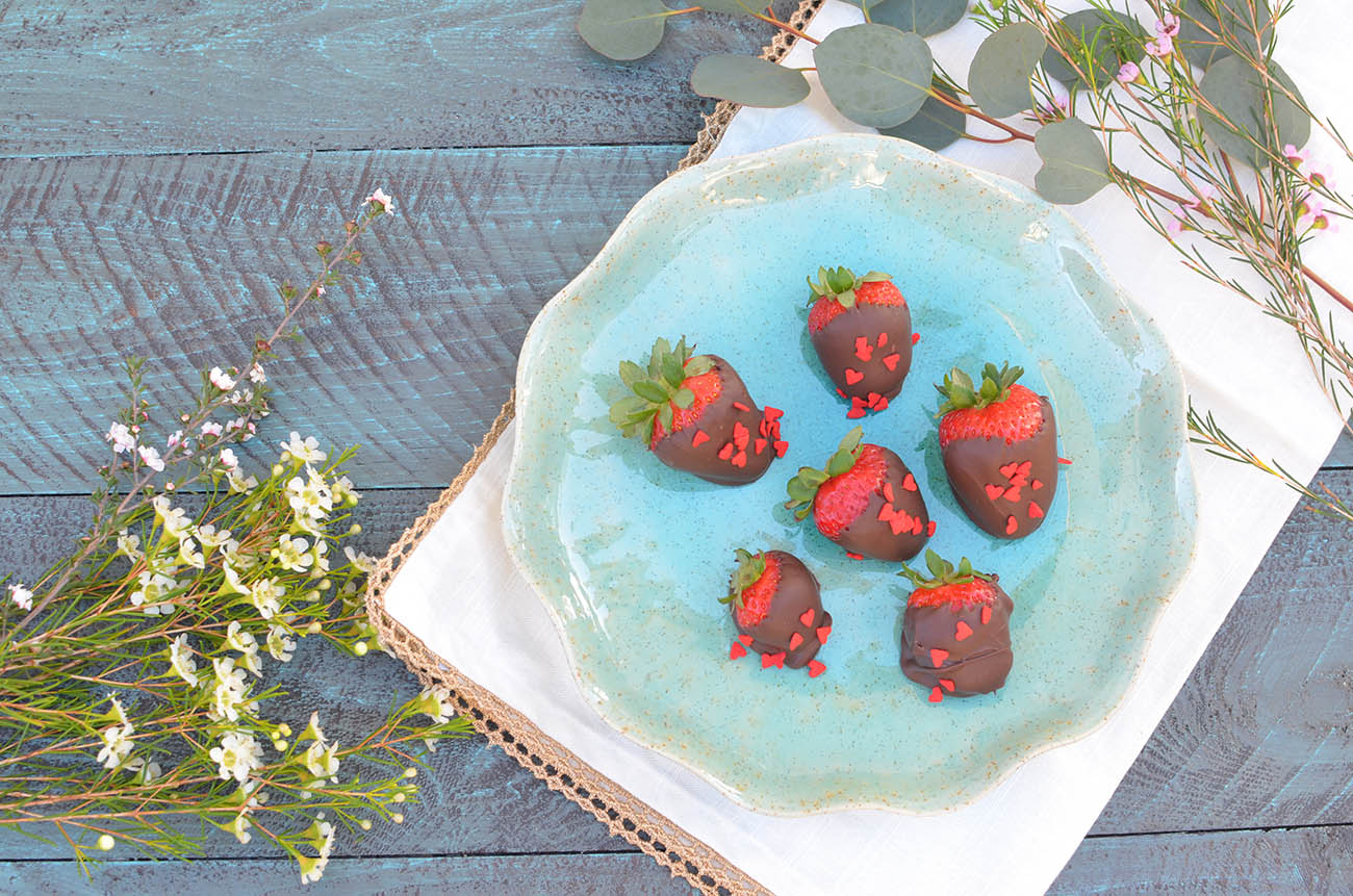 Fun for parties or for your love! Boozy chocolate covered strawberries are a delight!