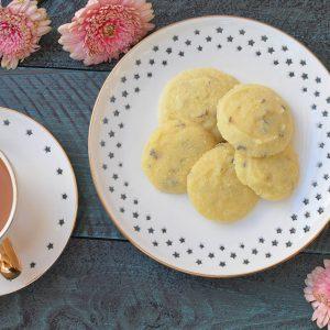 Gluten Free Lavender Shortbread Cookies