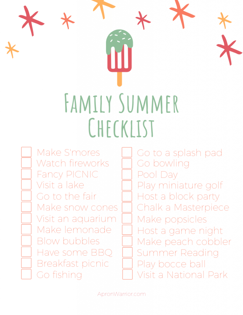 Get all the things you want to get done in the sun with this handy checklist!