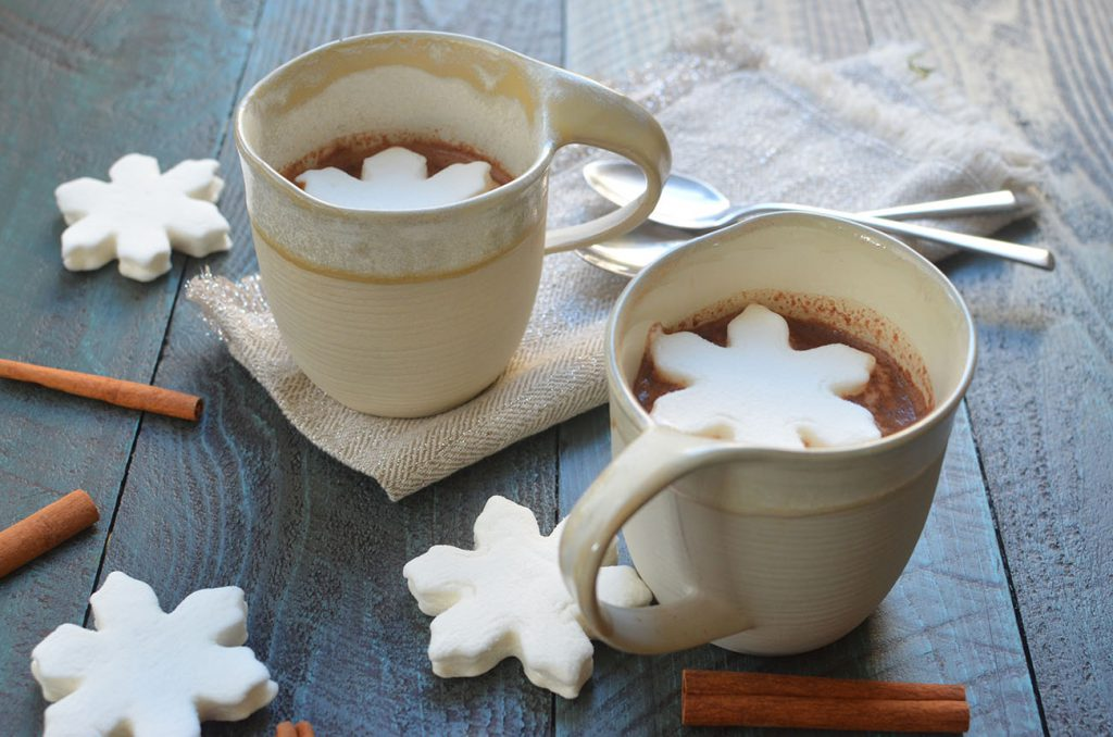 Warm, hot chocolate made from scratch